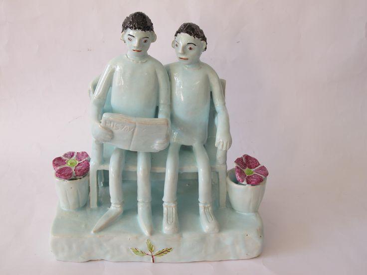 hylton nel   friends clay figurine by nico masemula