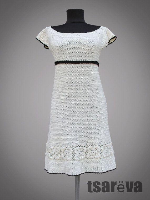 Crochet dress Mademoiselle Coco. White day or от TsarevaCrochet
