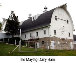 The Famous Maytag Blue Cheese dairy barn.