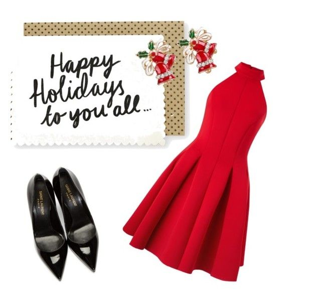 """Happy Holidays  From Stela"" by stela-ciko on Polyvore featuring Miss Selfridge and Yves Saint Laurent"