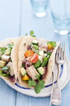 Fresh Shark Tacos With Lime & Red Onion Marinade