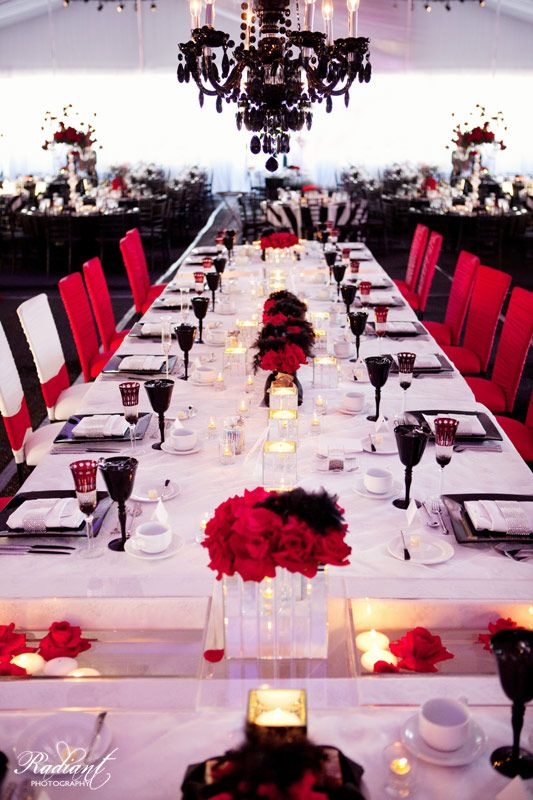 311 best Red, White, And Black Table Settings images on Pinterest ...