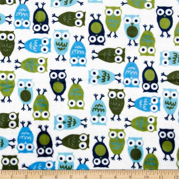 Midnight Owl Minky
