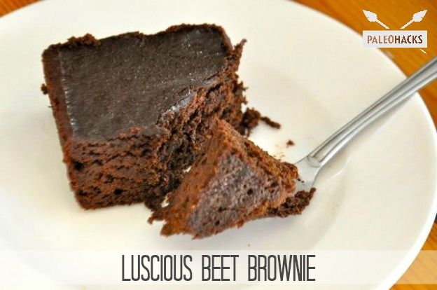 "Luscious Beet <a href=""http://blog.paleohacks.com/4-ingredient-paleo-brownies"">Brownie Recipe</a>"