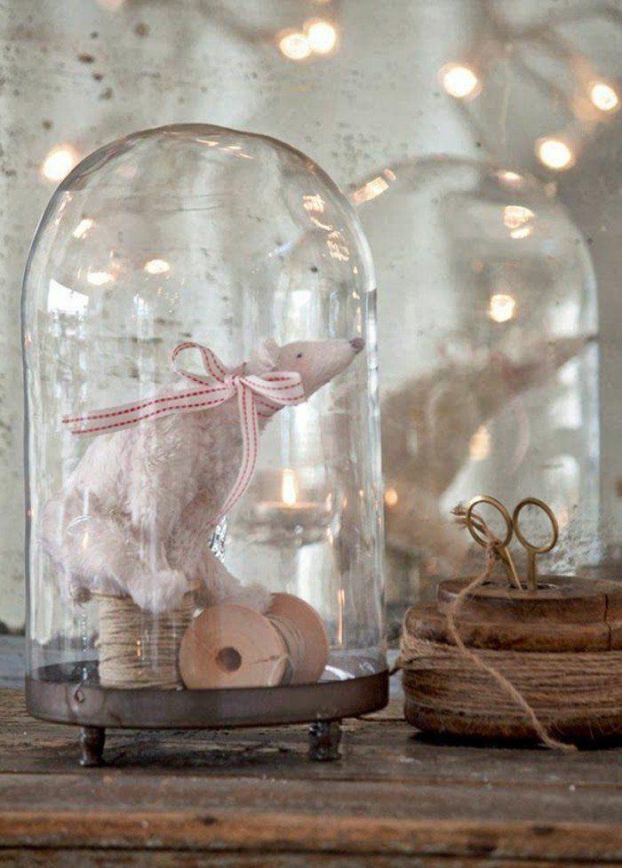 cloche à gateau en verre est une originale deco noel pas cher