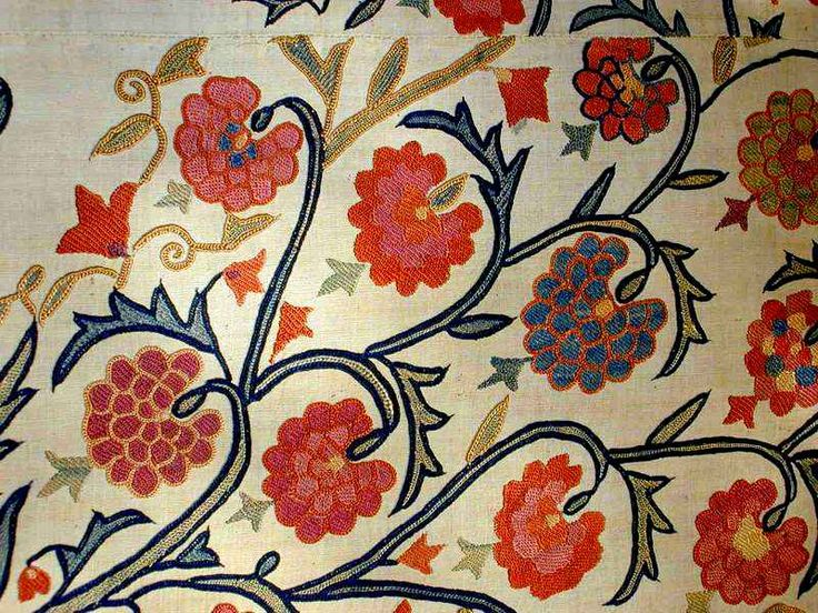 Suzani: Nurata Suzani (detail)  first half 19th century from Marvadim