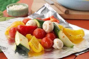 Sensational Foil-Pack Vegetables recipeGrilled Veggies, Foil Pack Vegetables, Vegetables Recipe, Sensation Foil Pack, Foilpack, Grilled Vegetables, Healthy Camps, Foil Packets, Vegetable Recipes