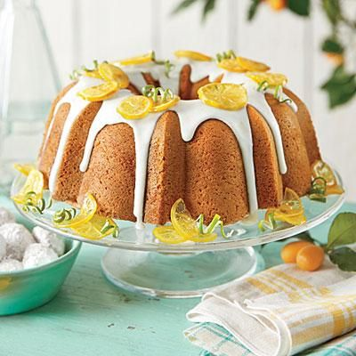 Lemon-Lime Pound Cake | This recipe is based on a classic Southern favorite called 7UP Pound Cake, which was created in the 1950s when the soda company suggested using its soft drink instead of other liquid in pound cake recipes. The result: one of the best, and simplest, cakes you'll ever make. | SouthernLiving.com