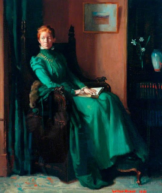 ✉ Biblio Beauties ✉ paintings of women reading letters & books - Frederic Lord Leighton - Sir William Orpen
