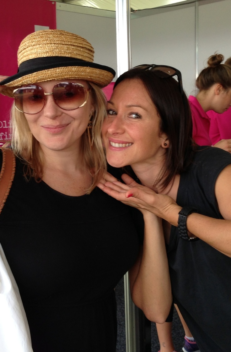 Dcider's Rachel Aston catches up with actress Veronica Sywak at #tasteofsydney #sydney #foodfestivals
