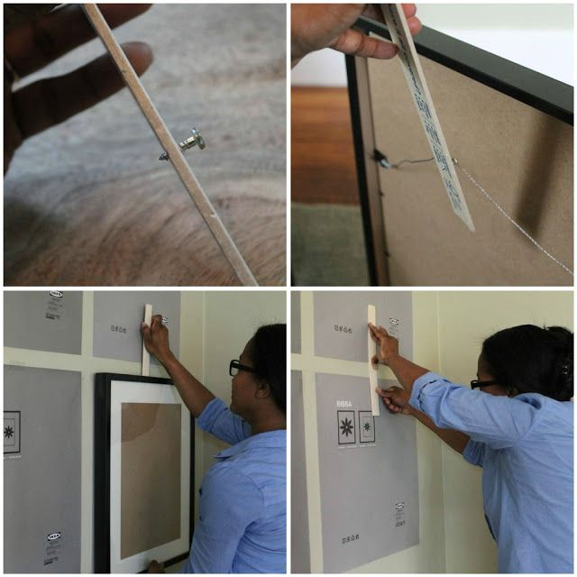 Simple trick for hanging pictures by a wire -- this works great!