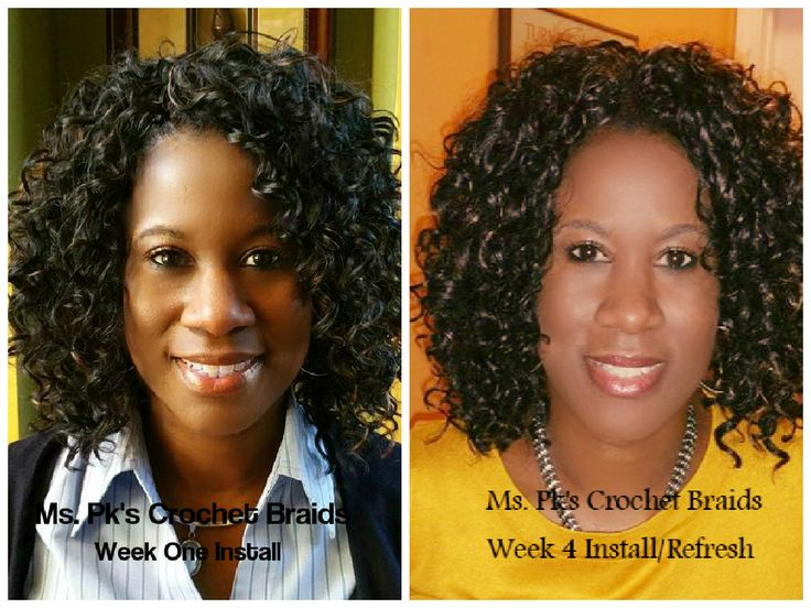 to fourth week of install. Hair installed by Ms. Pks Crochet Braids ...