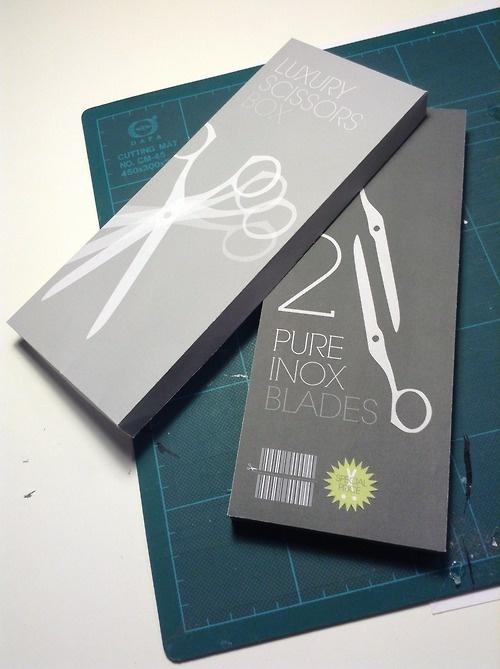 packaging fictif pour paire de ciseaux - Lodilon (France)