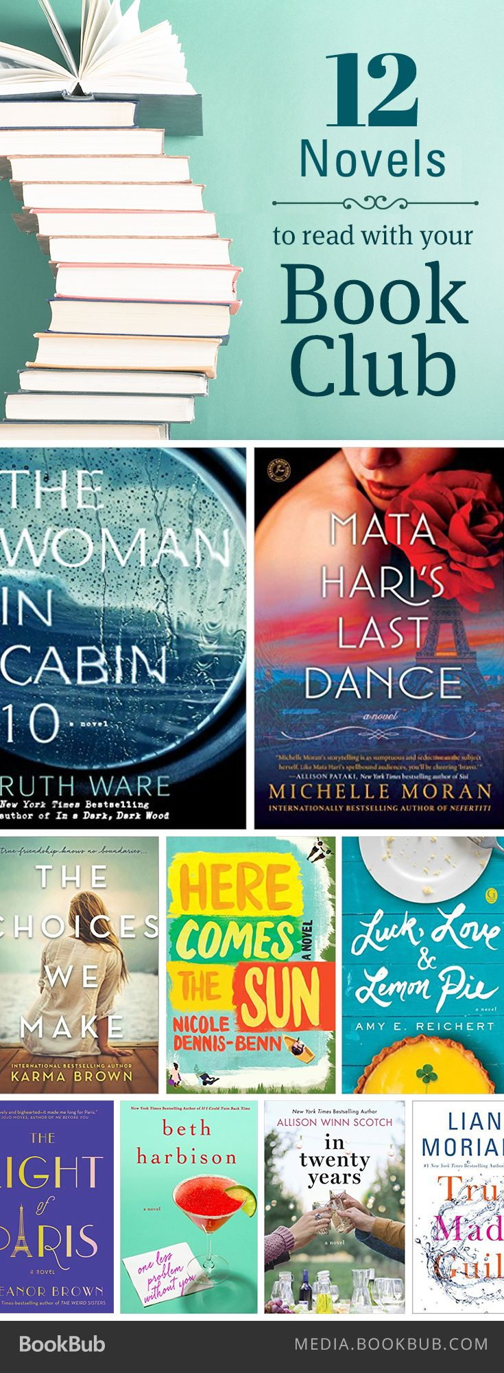 12 novels to read with your book club, including Liane Moriarty's Truly Madly Guilty.
