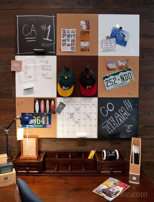 Dorm Decorating For Guys | handy bulletin board for guys is featured at bpteen