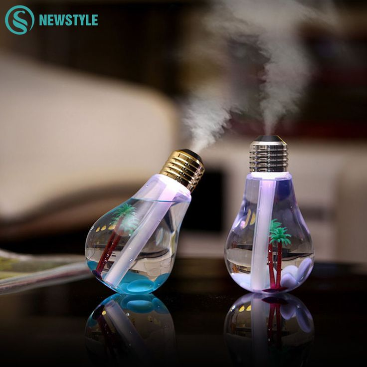 Creative Bulb Style LED Night Light USB Ultrasonic LED Humidifier With Colorful LED Night Lamp for Home Office #Affiliate