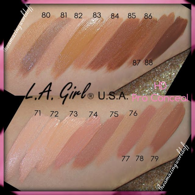 TheAmazingWorldOfJ: LA Girl USA HD Pro Conceal - Worth the hype? Review + Swatches