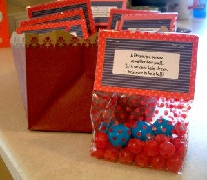 Candy party favors.