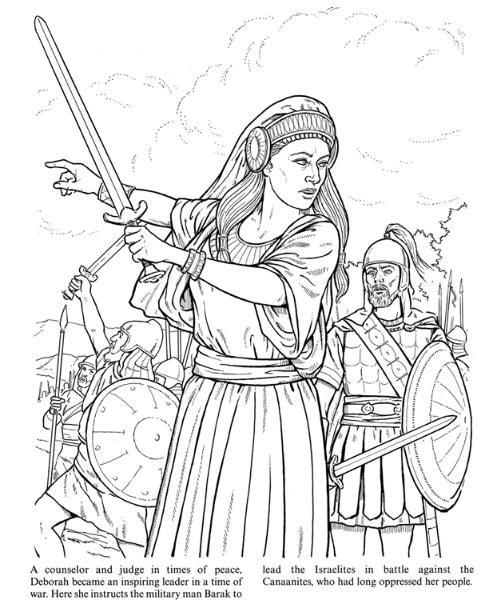 deborah bible coloring pages - photo#2