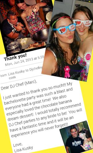 Dj Chef Cooking Cl Bachelorette Party Bride Wedding Shower Fun Ideas Ny Long Island Hamptons Nj Ct Connecticut New Jersey Nyc