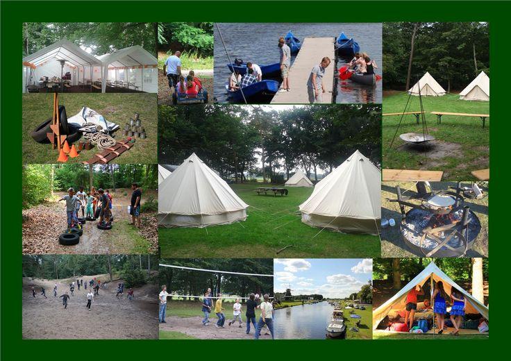 ook gaan scholen vaak bij ons kamperen, op een eigen groepskampeerterrein. Super avontuurlijk schoolkamp.