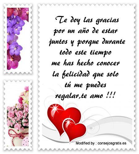 textos de aniversario para whatsapp,dedicatorias de aniversario: http://www.consejosgratis.es/carta-por-primer-ano-de-aniversario-de-novios/