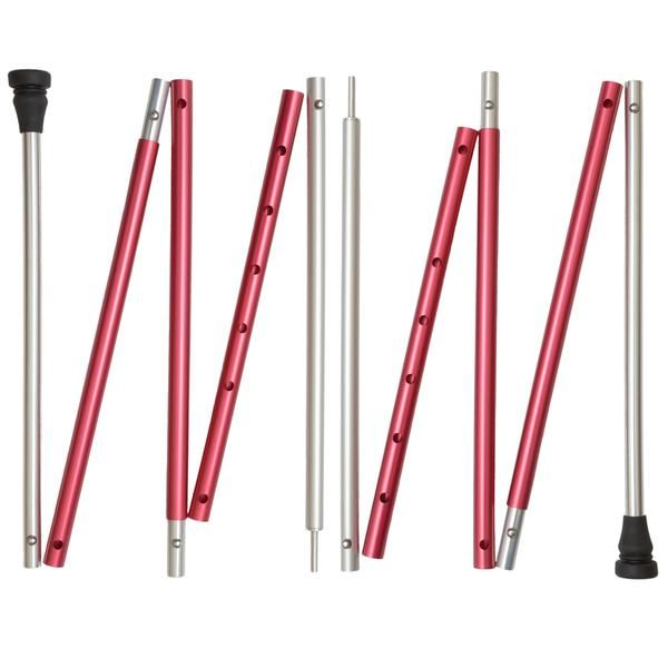 Our lightweight, adjustable tarp poles provide the perfect compliment to your tarp, trekking pole tent, or awning shelter.  Each is made from five sections of 7000-series aluminum alloy and is fully adjustable from 32 inches to 72 inches.   Why settle for tarp poles that limit you to very small adjustment ranges? Now you can have a single set that handles all your needs!