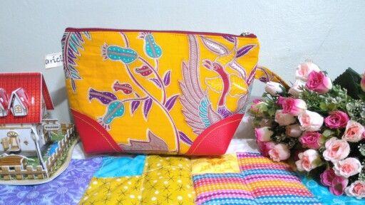 Batik, pouch. Beautiful isn't it?