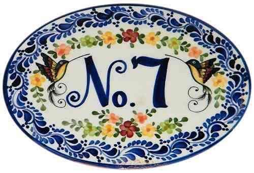 26x20 letrero, aviso, número para casa en ceramica talavera