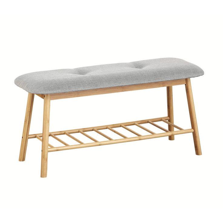 Bank Hemmet (lackiert, Stoff, grau) - Flurmöbel & Garderobenmöbel - Möbel - Dänisches Bettenlager
