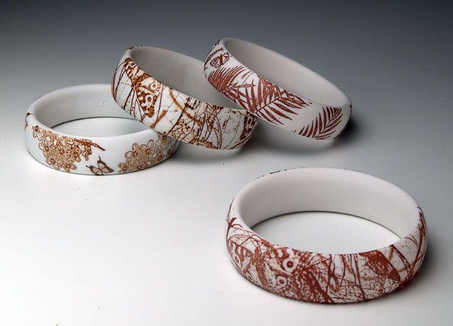 Porcelain bangles. Mollie Bosworth. visualartist.info