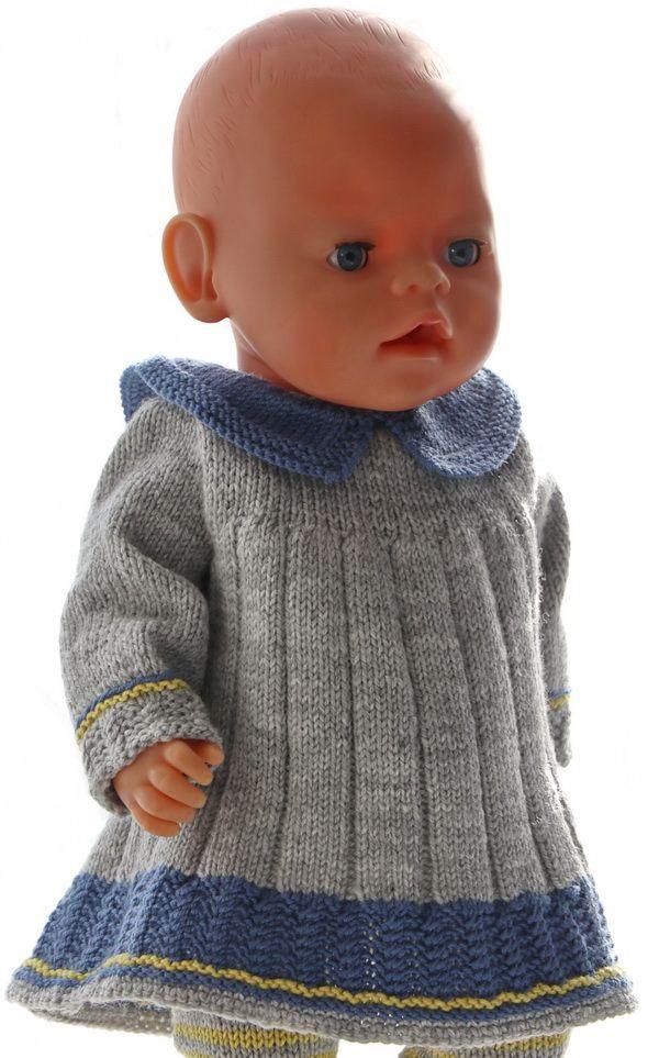 Strikke dukkekjole