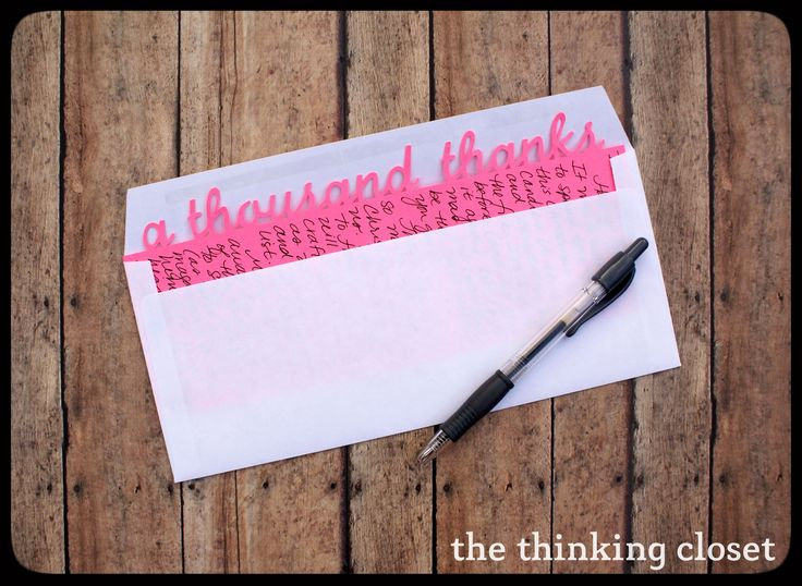 Letter-Sized Thank You Cards - Silhouette Tutorial & FREE Cut File by The Thinking Closet