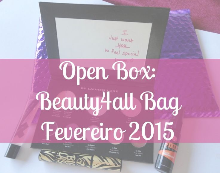 Open Box Beauty4all Bag - Fevereiro