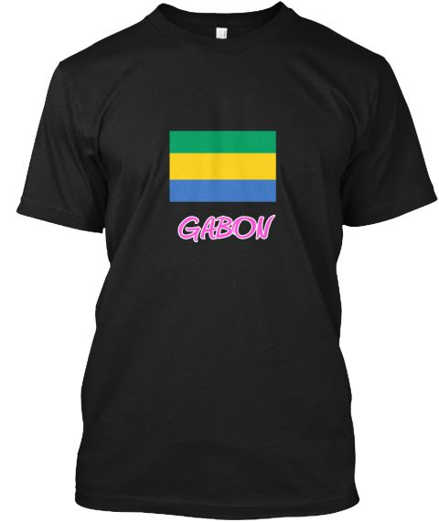 Gabon Flag Artistic Pink Design Black T-Shirt Front - This is the perfect gift for someone who loves Gabon. Thank you for visiting my page (Related terms: I Heart Gabon,Gabon,Gabonese,Gabon Travel,I Love My Country,Gabon Flag, Gabon Map,Gabon Language, Ga #Gabon, #Gabonshirts...)