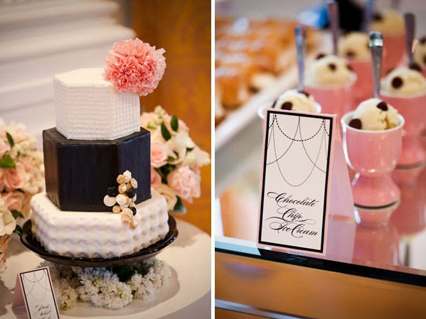 chanel inspired desserts bridal shower Bridal Shower Themes: Chanel Inspiration