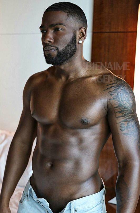 Hot male black naked