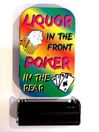 1oz hinged liquor in the front poker in the rear baccy tobacco tin rolling machine & papers  //Price: $ & FREE Shipping //     #Bathroom