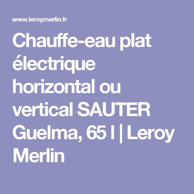 Chauffe-eau plat électrique horizontal ou vertical SAUTER Guelma, 65 l   Leroy Merlin
