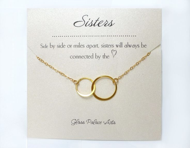 Infinity Necklace Gift With Personalized Sister Note Card