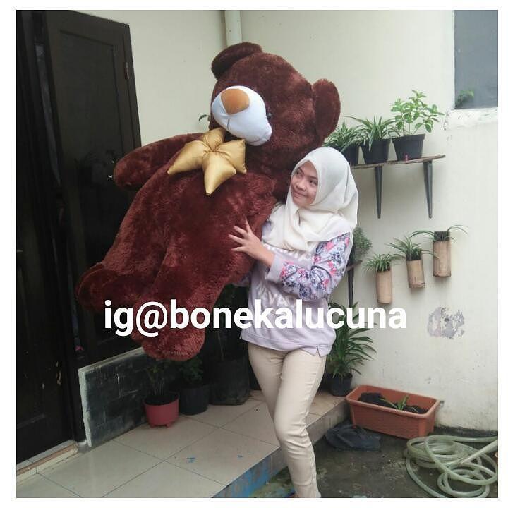 Boneka Teddy Bear Superjumbo Harga 320.000/pcs  Bahan Ok  Wa /call admin 62 812-8398-4999