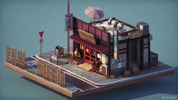 ArtStation - Little Souvenir Shop, Brian Magno