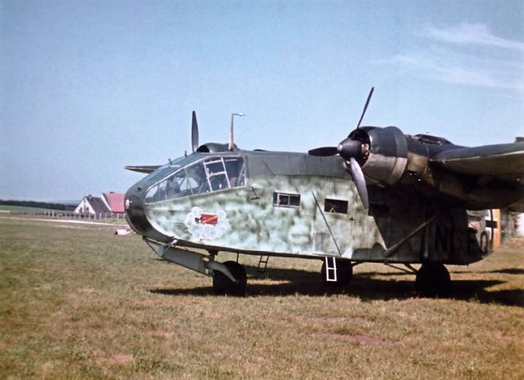 Transport aircraft Gotha Go 244 Combat Special Operations Group of the Luftwaffe at the airport