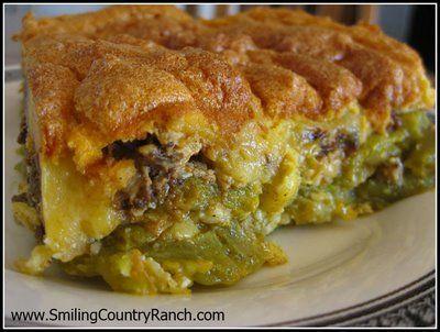 Heidi's Cakes and Bric a Brac: Chili Relleno Casserole