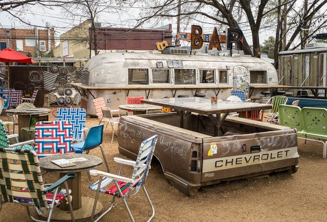 "14 Things You Can Only Do in Dallas  Drink outside in 107-degree weather and not have people think you're crazy. No Dallasite will ever let mild discomfort force them to sit, gasp... indoors. Between Truck Yard and Chicken Scratch + The Foundry, we've also become pioneers of the trailer park school of outdoor drinking -- maybe Dallas wasn't as ""laid back"" as Houston before, but thanks to places like these, it's now 400x more laid back."