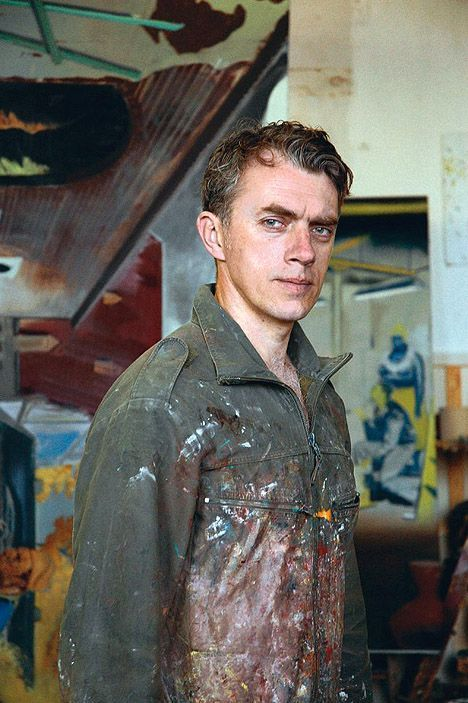 Leipzig School artist Neo Rauch (German:1960) - In studio