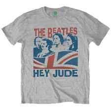 Beatles (The) - Windswept/Hey Jude Grey (T-Shirt Unisex Tg