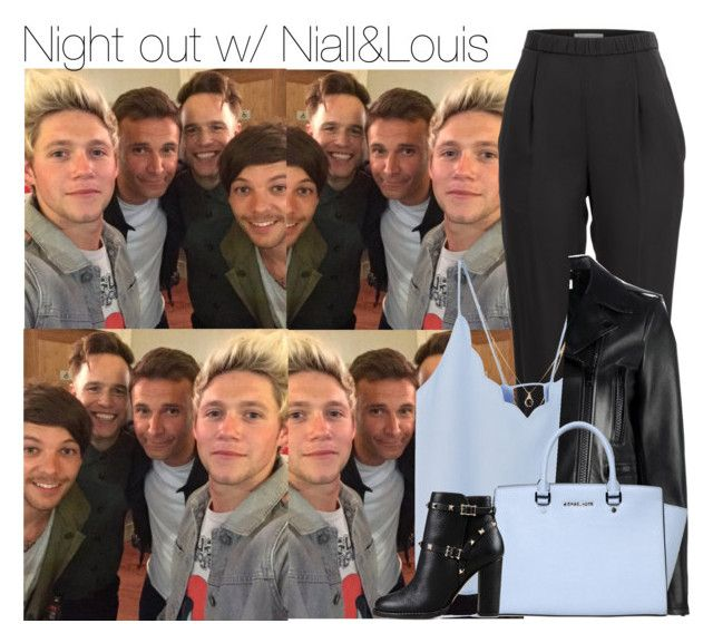 """Night out w/ Niall&Louis"" by anavi-magdalene ❤ liked on Polyvore featuring Vionnet, Forever 21, MANGO, Yves Saint Laurent, MICHAEL Michael Kors and Valentino"