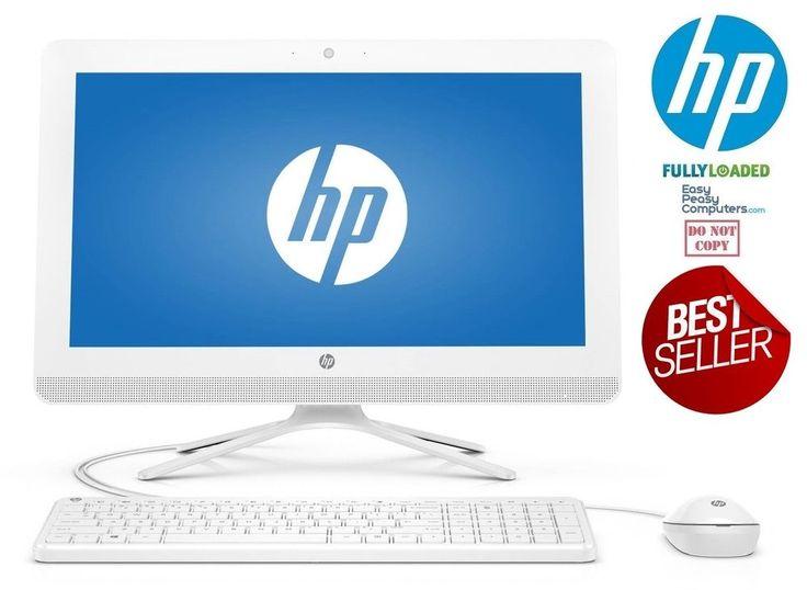 """NEW All in One HP Desktop Computer 19.45"""" Windows 10 Webcam WiFi (FULLY LOADED) #HP"""