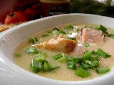 Горчичный суп с лососем